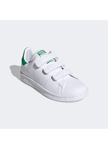 adidas Unisex Çocuk Stan Smith Sneakers FX7534.Beyaz Beyaz